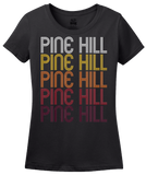 Ladies Black Pine Hill, NJ | Retro, Vintage Style New Jersey Pride  T-shirt