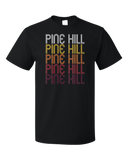 Standard Black Pine Hill, NJ | Retro, Vintage Style New Jersey Pride  T-shirt