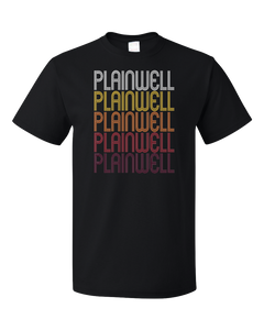 Standard Black Plainwell, MI | Retro, Vintage Style Michigan Pride  T-shirt