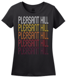 Ladies Black Pleasant Hill, CA | Retro, Vintage Style California Pride  T-shirt