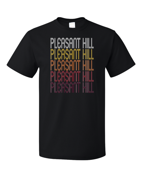 Standard Black Pleasant Hill, CA | Retro, Vintage Style California Pride  T-shirt