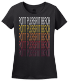 Ladies Black Point Pleasant Beach, NJ | Retro, Vintage Style New Jersey Pride  T-shirt