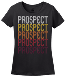 Ladies Black Prospect, PA | Retro, Vintage Style Pennsylvania Pride  T-shirt