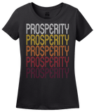 Ladies Black Prosperity, SC | Retro, Vintage Style South Carolina Pride  T-shirt