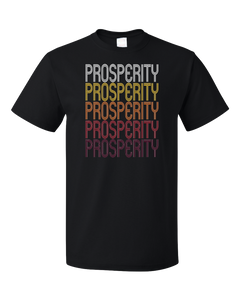 Standard Black Prosperity, SC | Retro, Vintage Style South Carolina Pride  T-shirt