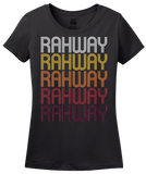 Ladies Black Rahway, NJ | Retro, Vintage Style New Jersey Pride  T-shirt