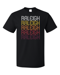 Standard Black Raleigh, MS | Retro, Vintage Style Mississippi Pride  T-shirt