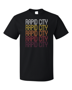 Standard Black Rapid City, SD | Retro, Vintage Style South Dakota Pride  T-shirt