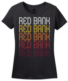 Ladies Black Red Bank, TN | Retro, Vintage Style Tennessee Pride  T-shirt