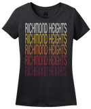 Ladies Black Richmond Heights, MO | Retro, Vintage Style Missouri Pride  T-shirt