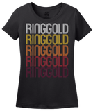 Ladies Black Ringgold, GA | Retro, Vintage Style Georgia Pride  T-shirt