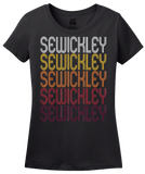 Ladies Black Sewickley, PA | Retro, Vintage Style Pennsylvania Pride  T-shirt