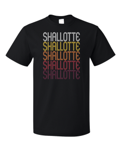 Standard Black Shallotte, NC | Retro, Vintage Style North Carolina Pride  T-shirt