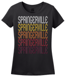Ladies Black Springerville, AZ | Retro, Vintage Style Arizona Pride  T-shirt
