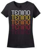 Ladies Black Tenino, WA | Retro, Vintage Style Washington Pride  T-shirt