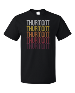 Standard Black Thurmont, MD | Retro, Vintage Style Maryland Pride  T-shirt