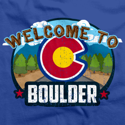 WELCOME TO BOULDER, COLORADO Royal Blue art preview