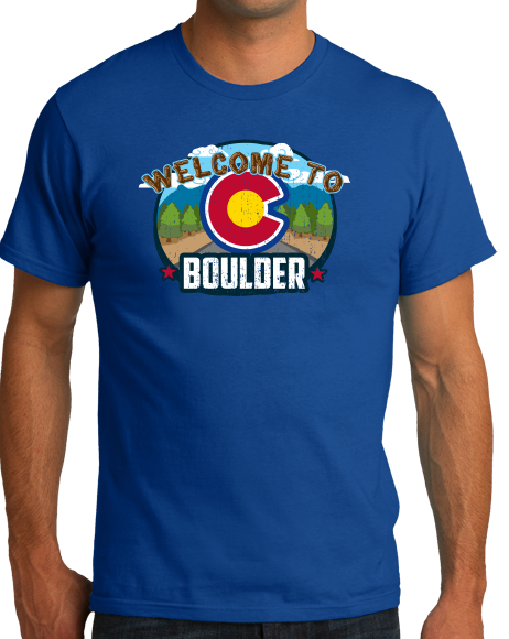 Standard Royal Welcome To Boulder, Colorado - Rocky Mountain High 420 CU Pride T-shirt