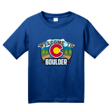 Youth Royal Welcome To Boulder, Colorado - Rocky Mountain High 420 CU Pride T-shirt