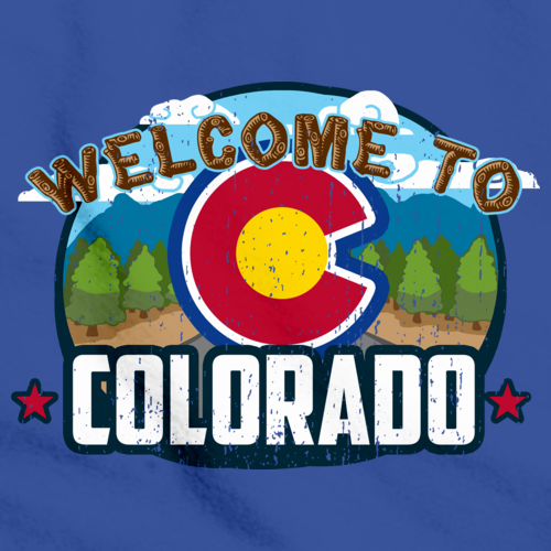 WELCOME TO COLORADO Royal Blue art preview