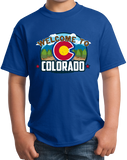 Youth Royal Welcome To Colorado - Rocky Mountain High Pride 420 Legal CU T-shirt