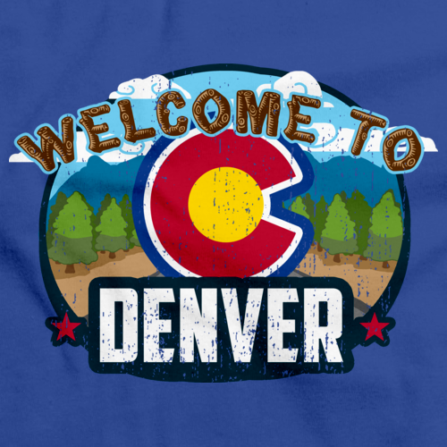 WELCOME TO DENVER, COLORADO Royal Blue art preview