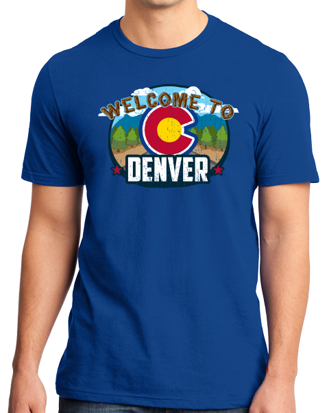 Standard Royal Welcome To Denver, Colorado - Mile-High City 420 Broncos Fan T-shirt