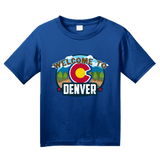 Youth Royal Welcome To Denver, Colorado - Mile-High City 420 Broncos Fan T-shirt