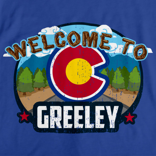 WELCOME TO GREELEY, COLORADO Royal Blue art preview