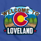 WELCOME TO LOVELAND, COLORADO Royal Blue art preview