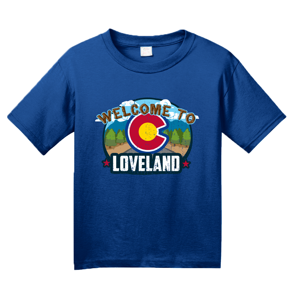 Youth Royal Welcome To Loveland, Colorado - Sweetheart City Denver 420 T-shirt