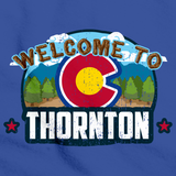WELCOME TO THORNTON, COLORADO Royal Blue art preview
