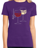 Ladies Purple I Go Both Ways - Red Wine White Lover Wino Humor Oenophile T-shirt