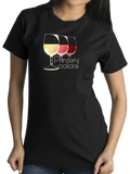 Standard Black Primary Colors - Wine Lover Rose Red White Drinker Funny T-shirt
