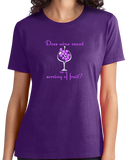Ladies Purple Does Wine Count As A Serving Of Fruit? - Wine Lover Funny Joke T T-shirt