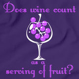 DOES WINE COUNT AS A SERVING OF FRUIT?  Purple art preview