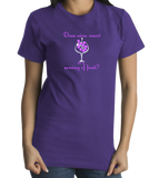 Standard Purple Does Wine Count As A Serving Of Fruit? - Wine Lover Funny Joke T T-shirt