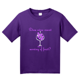 Youth Purple Does Wine Count As A Serving Of Fruit? - Wine Lover Funny Joke T T-shirt