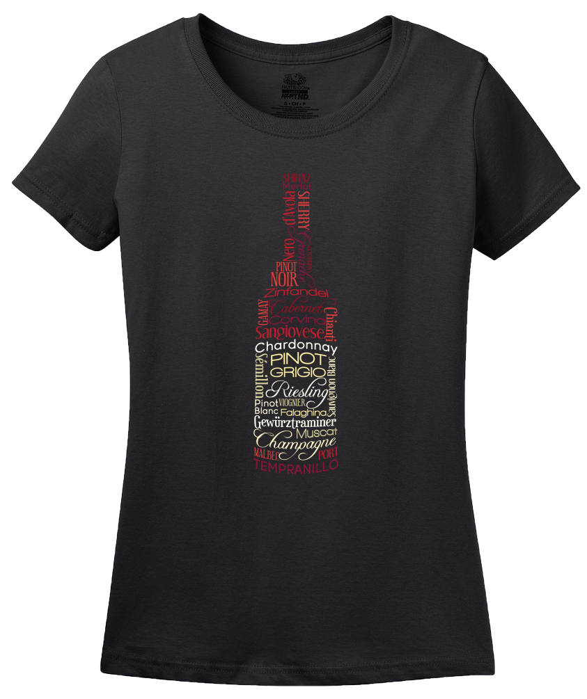 Ladies Black Wines for Days - Wine Fan Oenophile Red White Rose Lover Fun T-shirt
