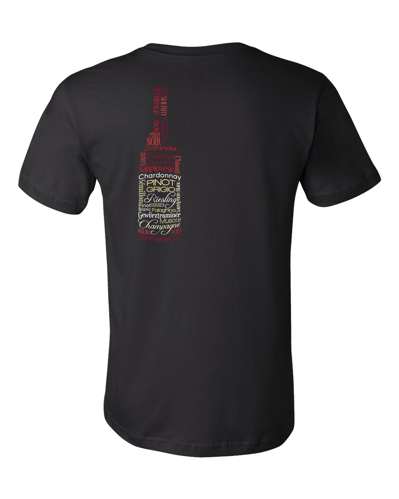 Standard Black Wines for Days - Wine Fan Oenophile Red White Rose Lover Fun T-shirt
