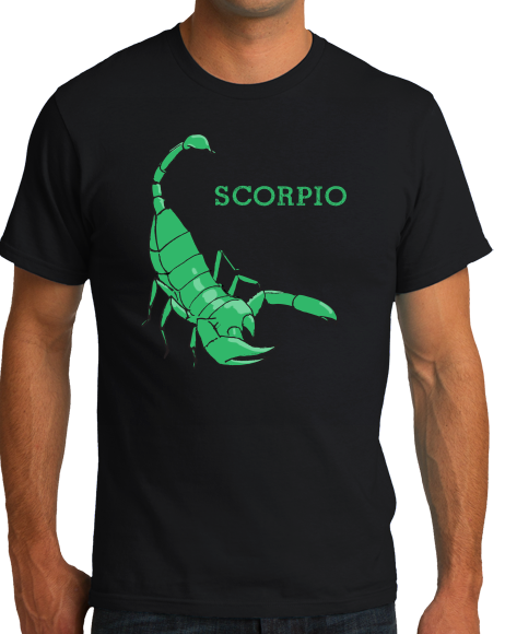 Standard Black Zodiac Scorpio - Horoscope Astrology Fan Star Sign Scorpion T-shirt