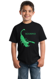 Youth Black Zodiac Scorpio - Horoscope Astrology Fan Star Sign Scorpion T-shirt