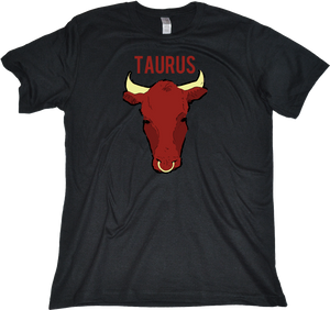 Standard Black Zodiac Taurus - Horoscope Astrology Fan Star Sign The Bull T-shirt