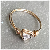 CZ triangle wire ring - ROWAN + RAE designs