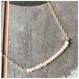 Freshwater Pearl bar necklace - ROWAN + RAE designs