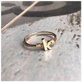 Initial wire rings - ROWAN + RAE designs