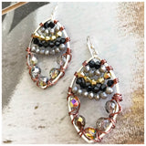 Beaded Metal ovals - ROWAN + RAE designs