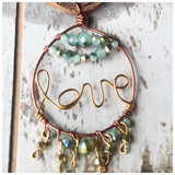 Love pendant leather necklace - ROWAN + RAE designs