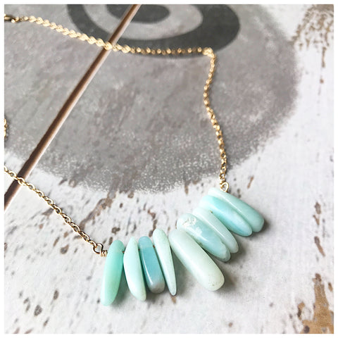 Houndstooth Amazonite necklace - ROWAN + RAE designs