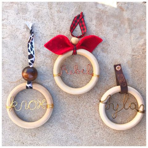 Wooden ring ornaments - ROWAN + RAE designs